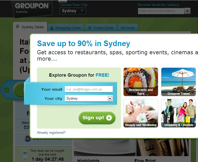 Groupon, never again