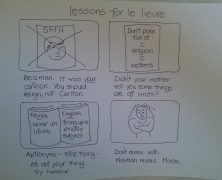 My first cartoon