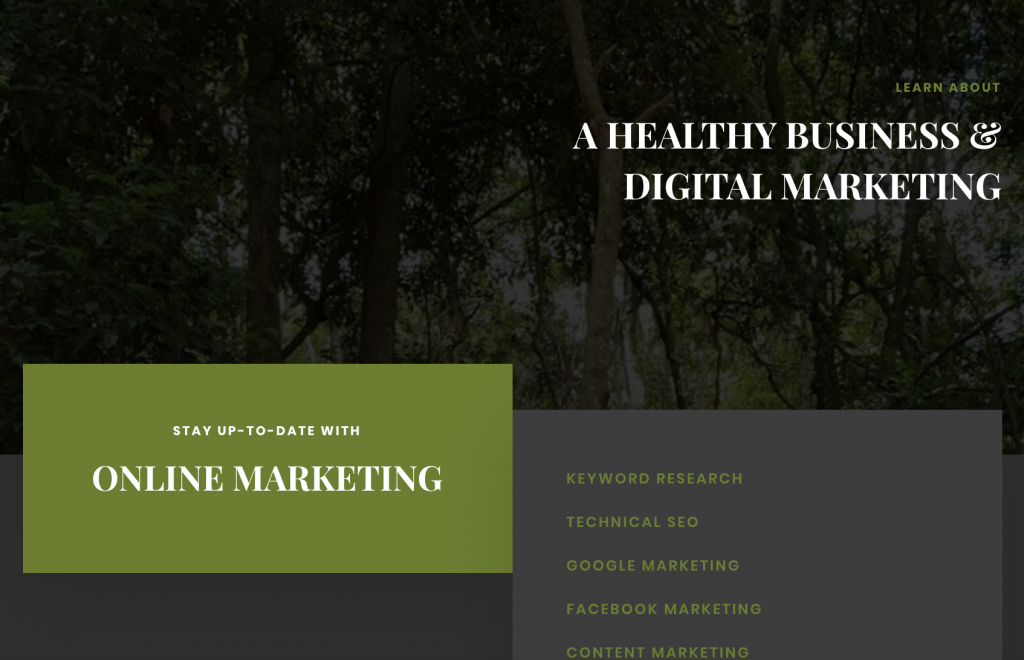 A Healthy Business website.